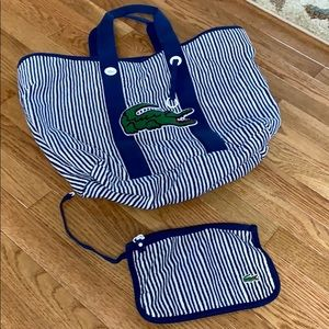 Authentic Lacoste Terry Line Bag